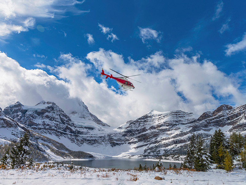 Look for travel insurance that covers helicopter ambulances