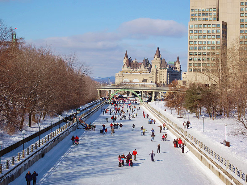 World's largest ice rink in Ottawa.