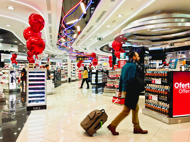 duty free airport shopping