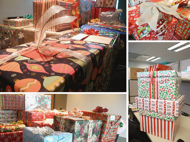 TuGo teams busy wrapping gifts for westcoast family resources society