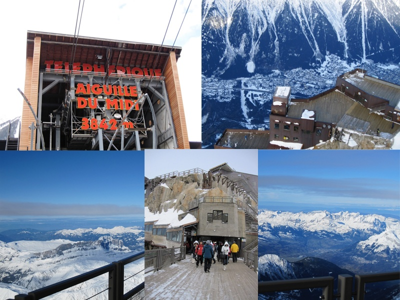 Chamonix cable car takes you to high altitudes in seconds