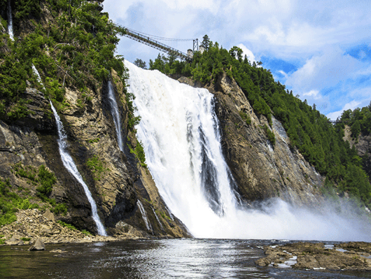 Located near Quebec City, the Falls are a great location for thrill seekers