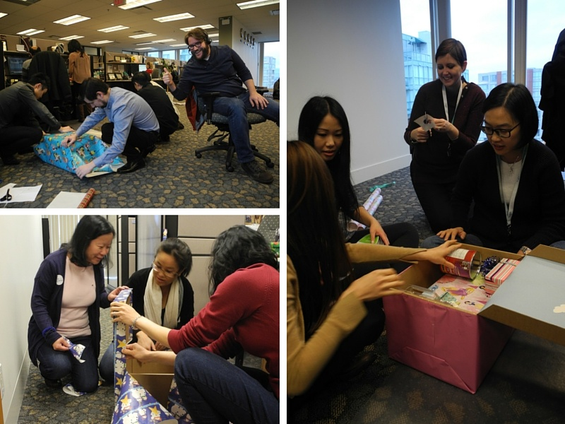 TuGo teams busy wrapping gifts for westcoast family resources