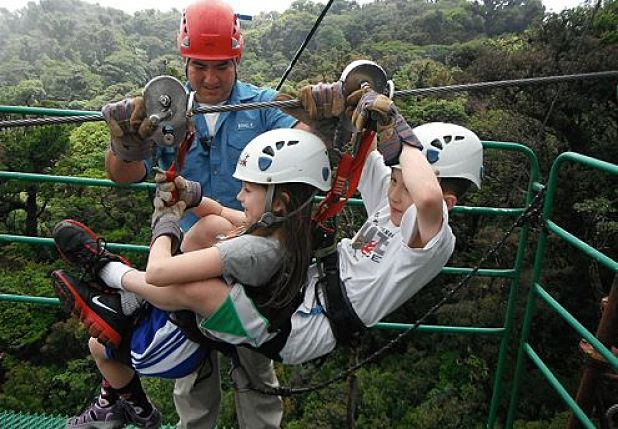 Ziplining at Monteverde Costa Rica