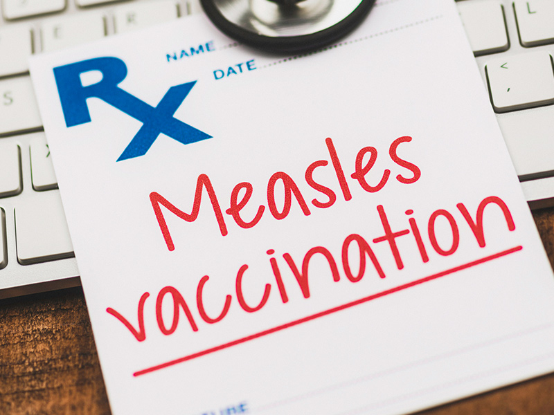 measles vaccination before you travel