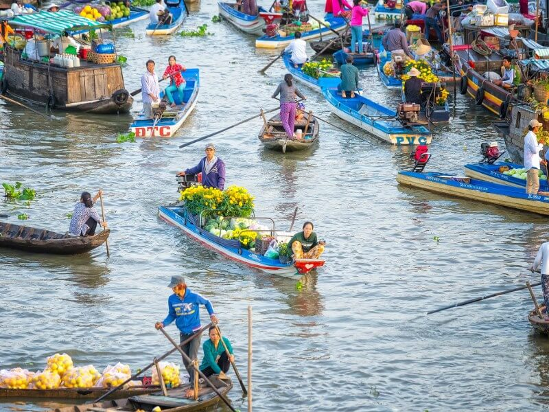 Mekong river floating market