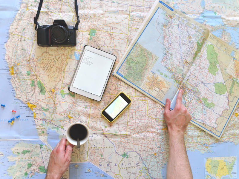 road map road trip planning