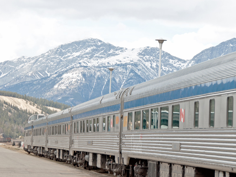 via rail the Canadian train route travel by train in Canada