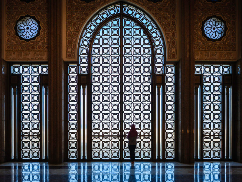Morocco Casablanca mosque interiors