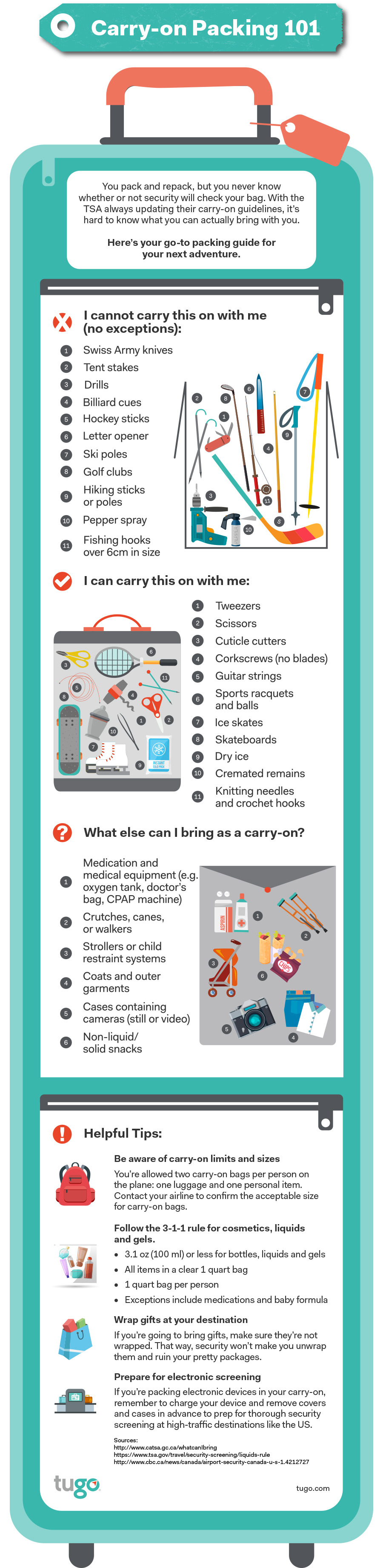 Carry On Restrictions For International Flights Infographic