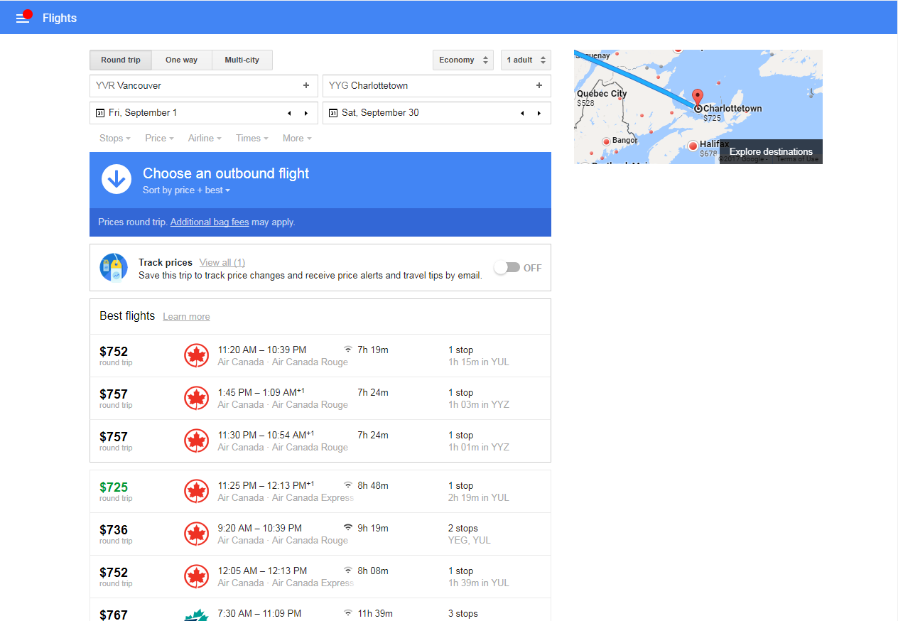 google flights cheap airfare