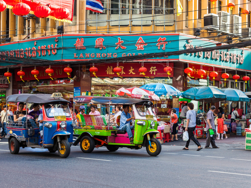 Embrace the bustling streets of the city and experience Thailand from a local's perspective by tuk tuk.
