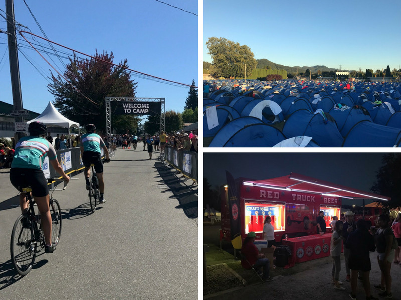ride to conquer Vancouver camp