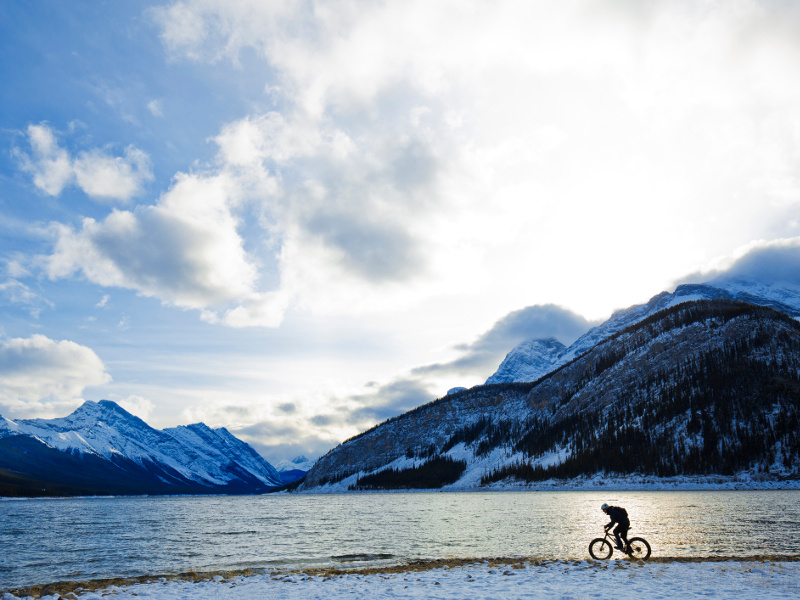 canada winter fat biking