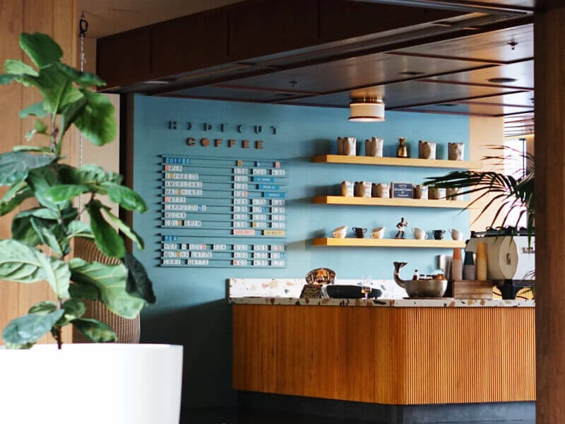 Just a peek inside the retro lobby of the Laylow, Waikiki.