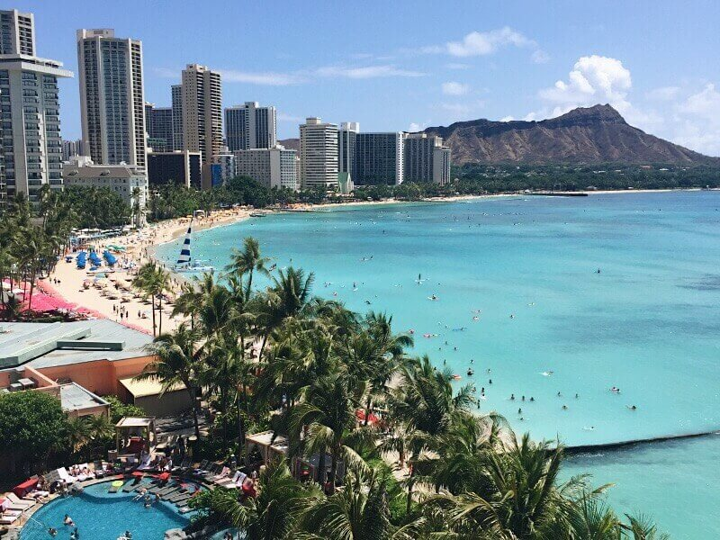 The million dollar view from the Sheraton Waikiki.