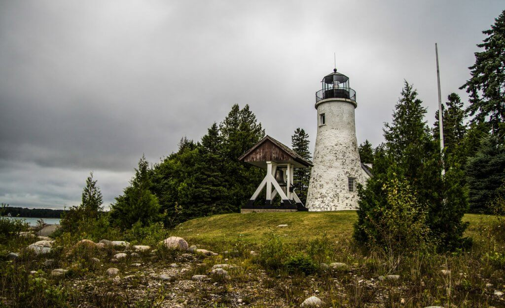 Just outside of Alpena, Michigan, take in the simple beauty of Old Presque Isle Lighthouse.
