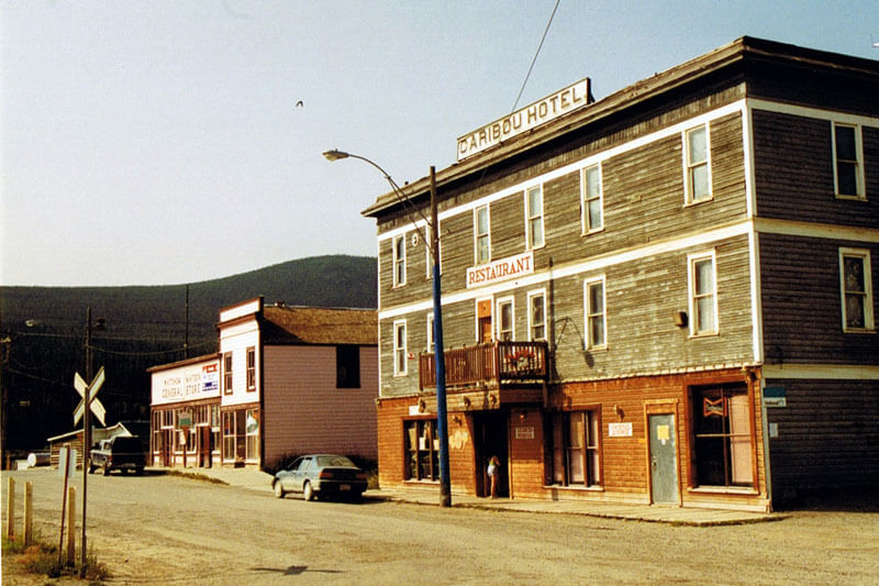 Street view of the Yukon's Caribou Hotel
