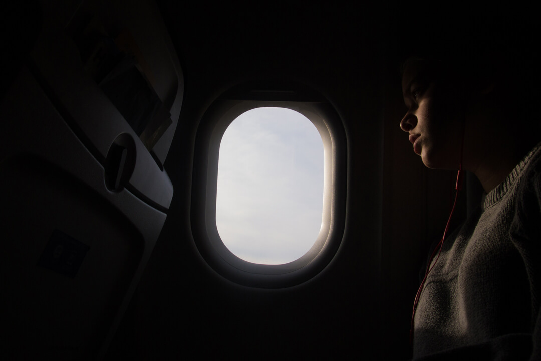 air passenger by the window