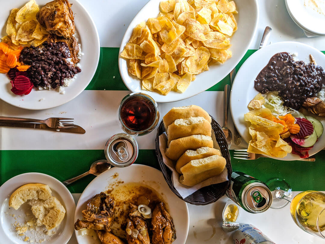 Cuban-food-in-the-country,-Las-Terrazas-Cuba
