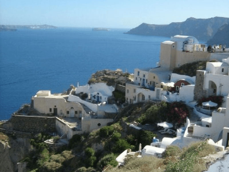 Oia or Ia is a small town and former community in the South Aegean on the islands of Thira and Therasia, in the Cyclades, Greece.